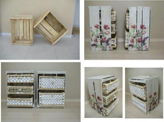 Dicas para organizar e decorar com material de reciclagem - Decorar reciclando muebles ...