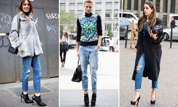 O jeans navalhado pode ser usado de inúmeras formas e looks