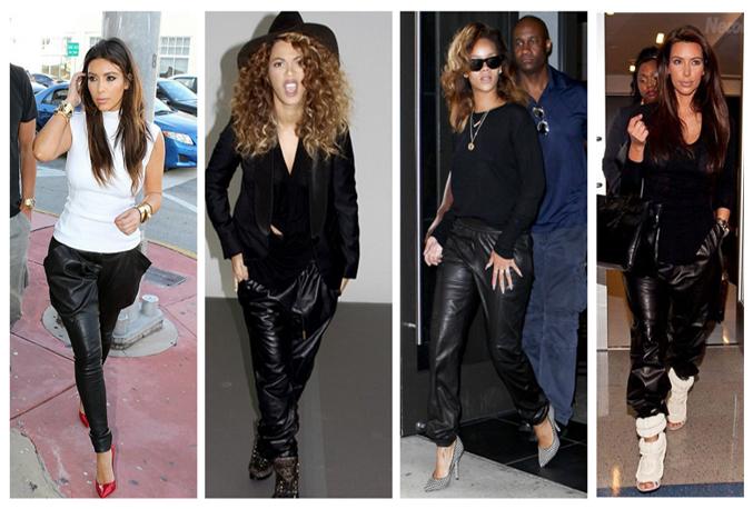 calças de couro 2014