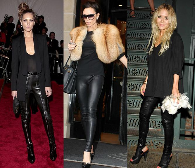 Calças de couro - tendências e looks   Vestir e Maquiar