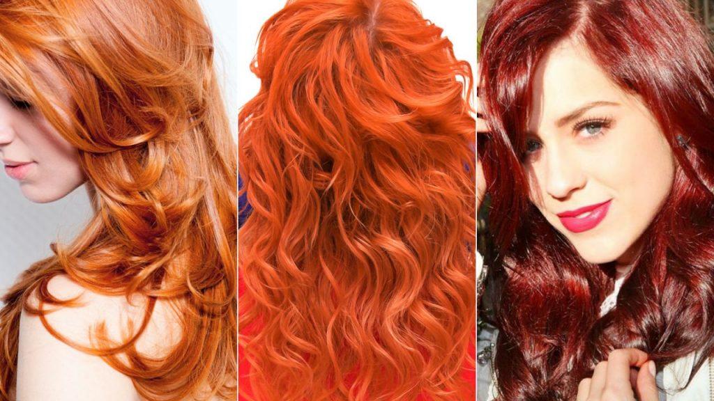 tons de cabelos vermelho