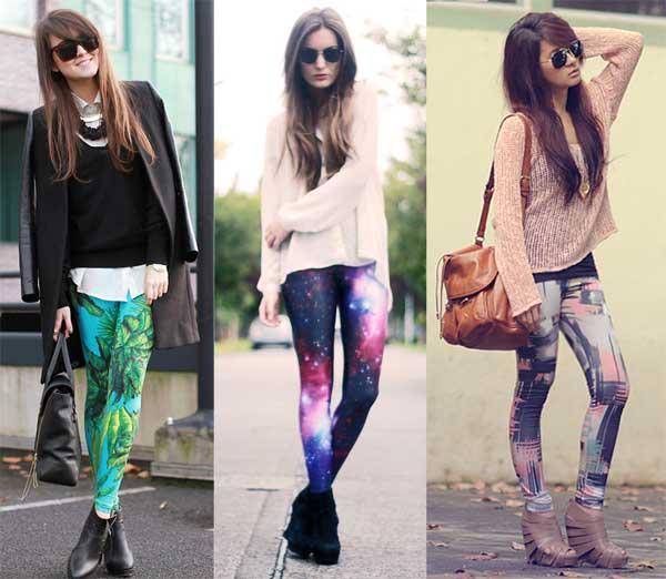 As calças estampadas são perfeitas para o dia a dia