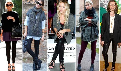 Modelos de calças legging discretas combinam com todos os looks