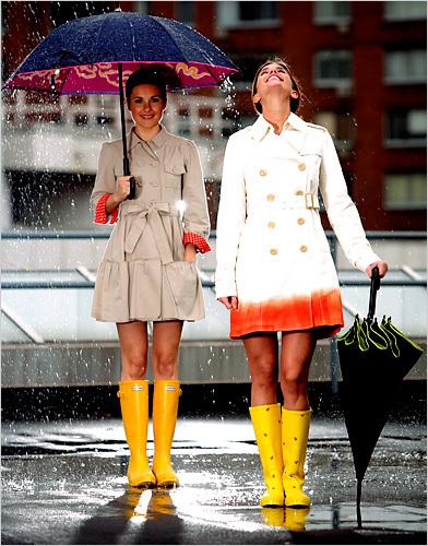 Capa de chuva estilo vestido