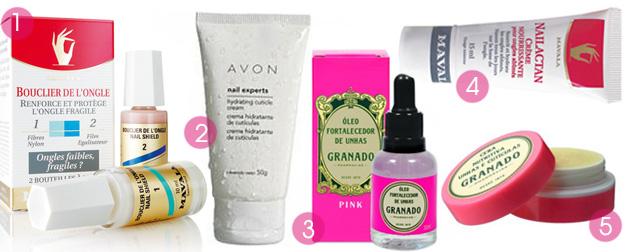 Existem inúmeros produtos que podem ser usados para deixar as unhas saudáveis e bonitas.