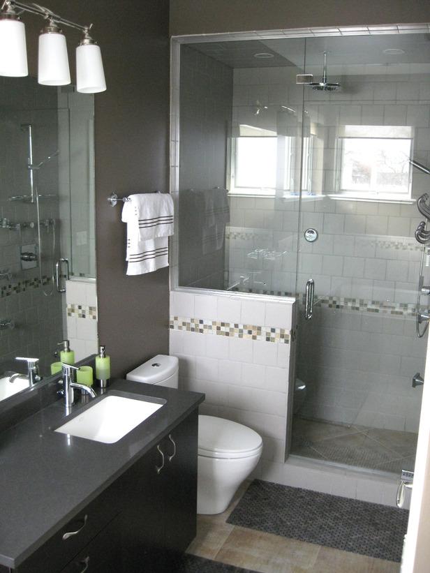 Decoração para Banheiros Pequenos -> Decoracao De Banheiro Pequeno Cinza