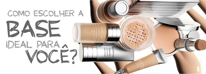 Existem inúmeras tonalidades de base para combinar com cada tipo de pele
