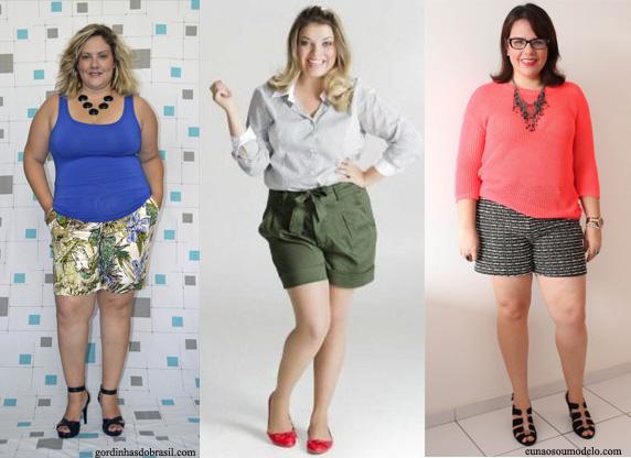 As mulheres mais cheinhas devem evitar shorts de malha