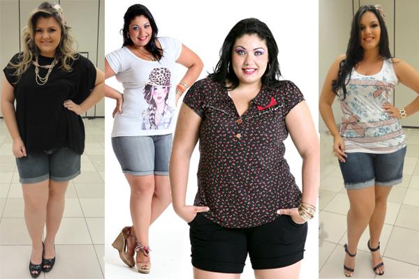 O short é uma peça indispensável até mesmo para as mulheres mais cheinhas