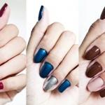 Unhas pintadas com as cores do inverno – Dicas de cores 02