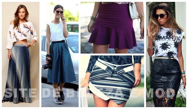 As mini saias assimétricas também vem com tudo para o verão 2015