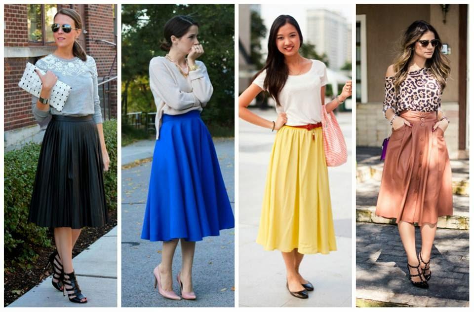 As saias plissadas, franzidas, godês e envases serão a aposta para o verão 2015