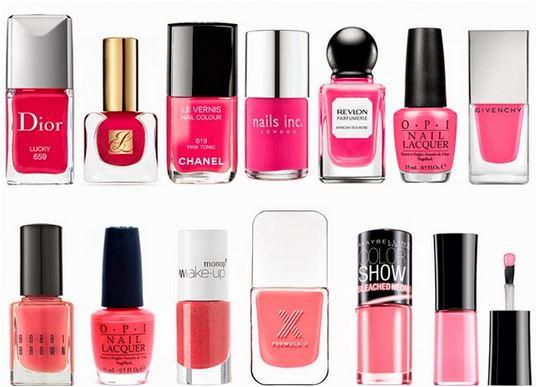 Existem inúmeros esmaltes rosas para combinar com todos os estilos de mulheres