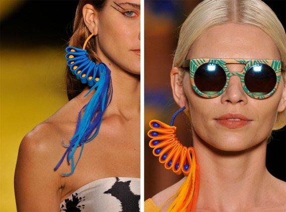 Os maxi brincos coloridos são aposta para o verão 2015