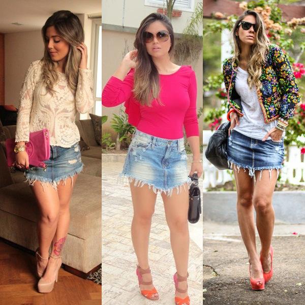 A saia jeans de bico combina com inúmeros looks (Foto: Divulgação)