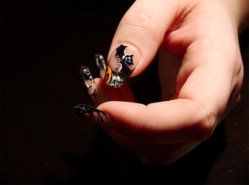 Modelos de unhas para Halloween 2014