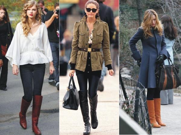 Modelos de casacos e botas femininas para o Inverno
