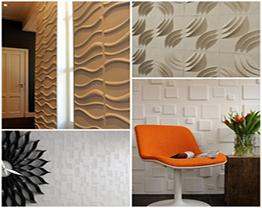 Decoração com papel de parede em 3D – Fotos
