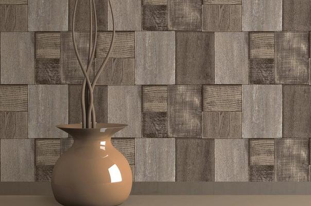Decora o com papel de parede em 3d fotos - Tavole adesive per pareti 3d ...