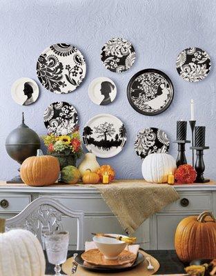 Decora o com pratos na parede - Platos decorativos pared ...