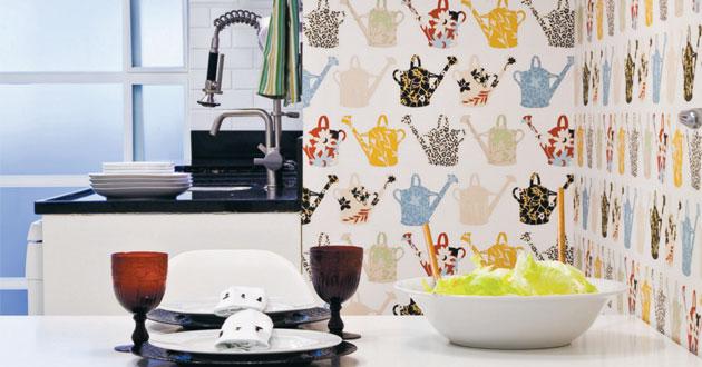 Decora o de cozinhas com papel de parede - Categoria a3 casa ...