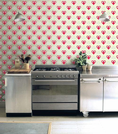 decoracao cozinha bege:Decoração-de-Cozinhas-Com-Papel-de-Parede-12 – Vestir e Maquiar