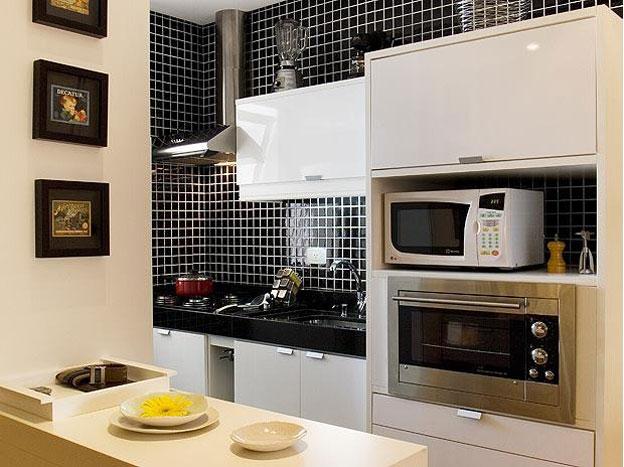 Decoração de cozinha americana # Cozinha Compacta Para Kitnet