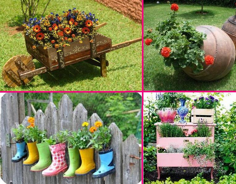 Dicas de decoraç u00e3o de jardins -> Decoração Para Jardins Com Paletes