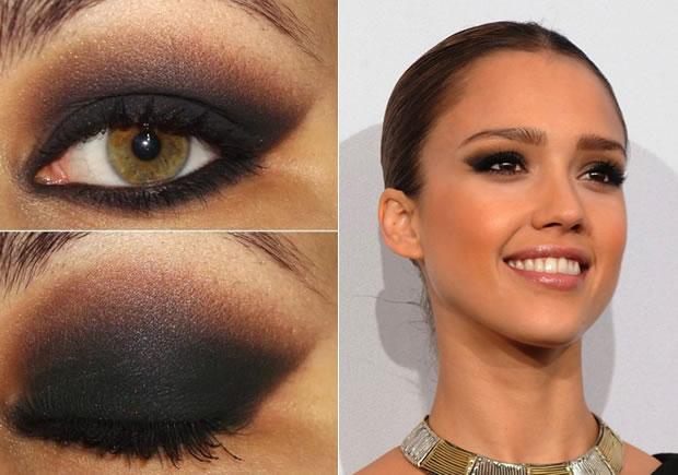 Maquiagem esfumada para olhos