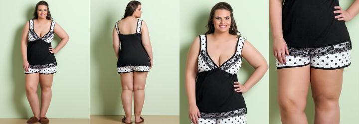 Pijamas femininos plus size8