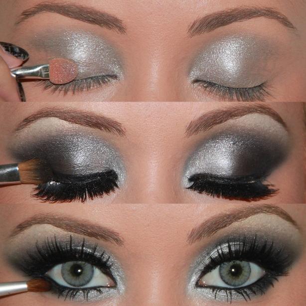 Sombra prata na maquiagem verão1