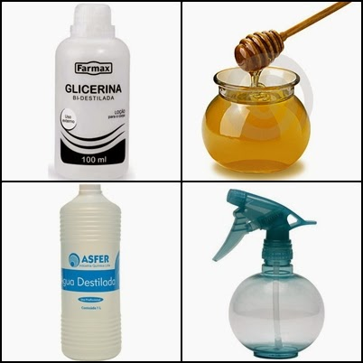 Spray de brilho caseiro com mel