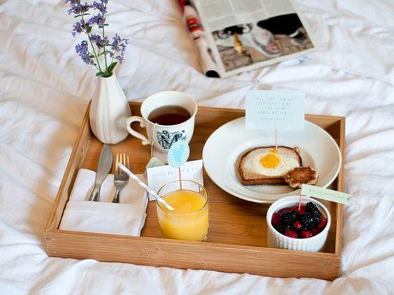 Surpresa o namorado - Café da manhã na cama