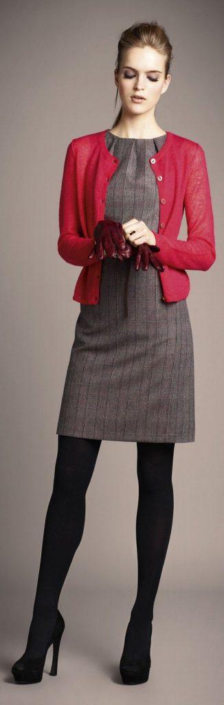 Cardigan com vestido
