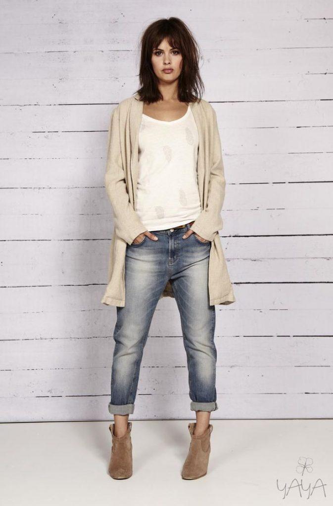 Cardigan com jeans