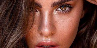 pele bronzeada com maquiagem