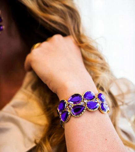 pulseiras brilhantes dos Anos 201