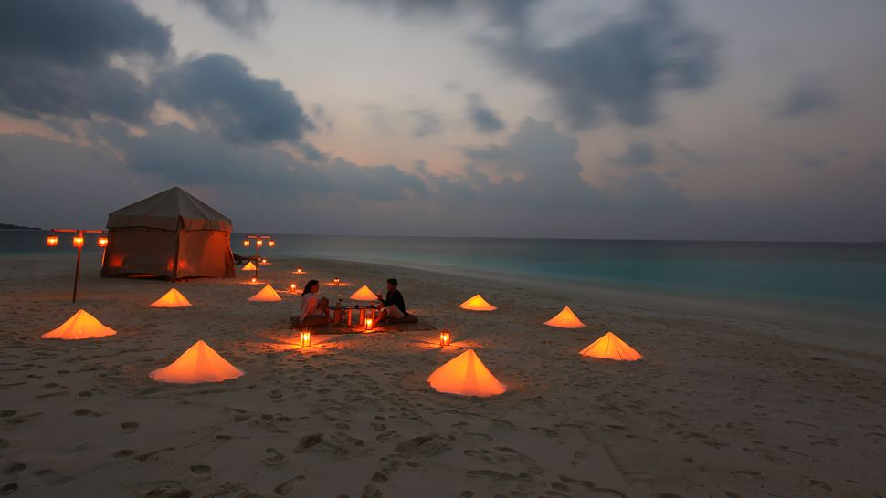 Surpresa para o namorado - Jantar na praia