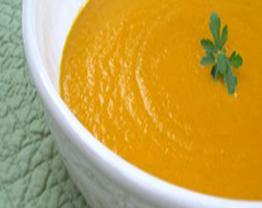Receita de Sopa de Cenoura e Gengibre