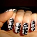 unhas preto e branco 11