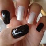 unhas preto e branco 4