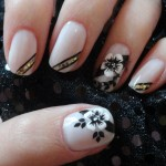 unhas preto e branco 5