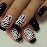 unhas preto e branco 6