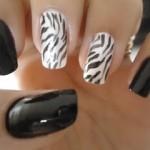 unhas preto e branco 7