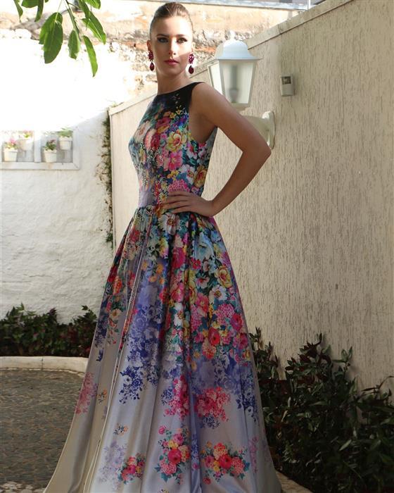 Vestido floral para casamento