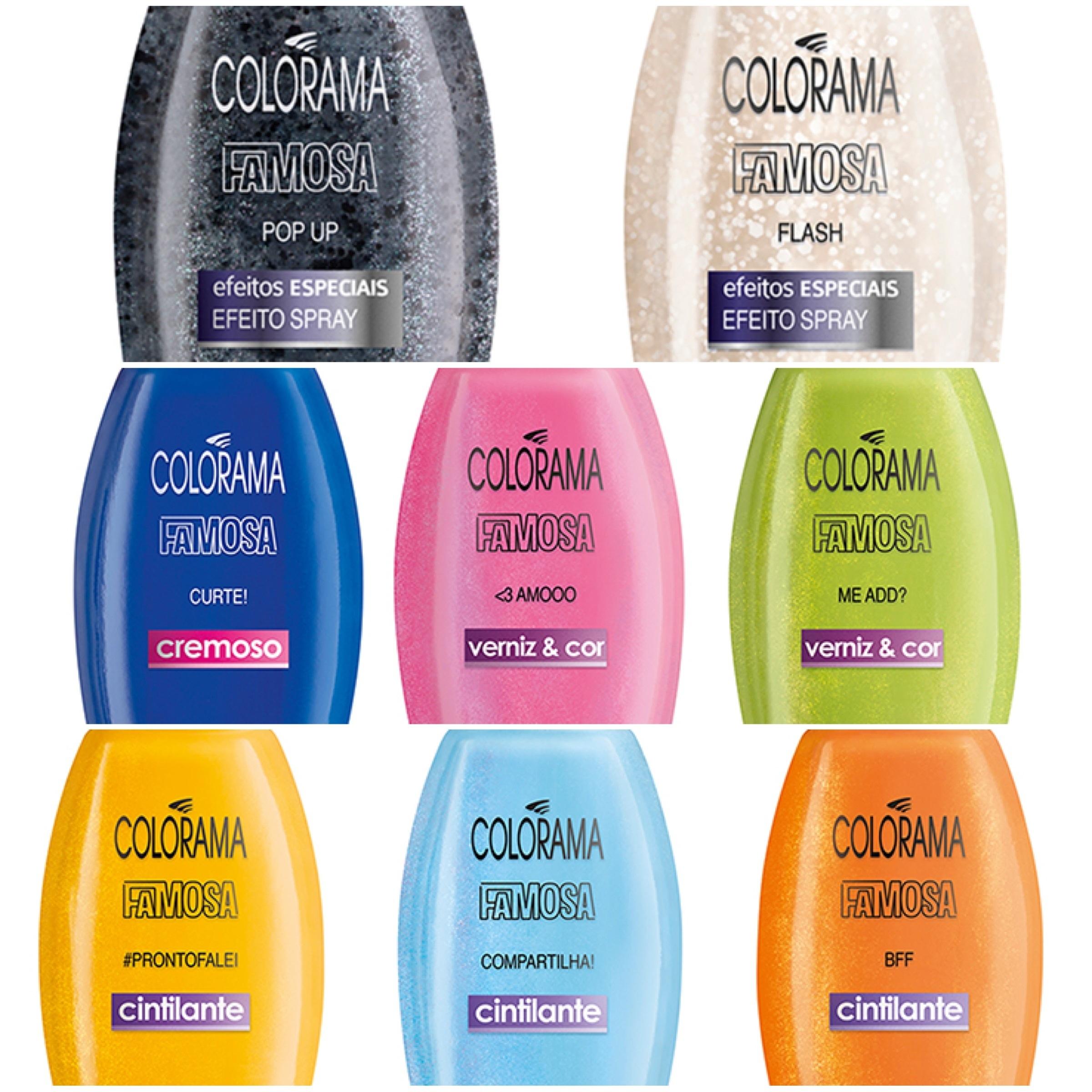 Cores da coleção de esmaltes Famosa da Colorama1