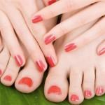 esmaltes das mãos e dos pés
