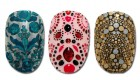 Nail arts com as estampas clássicas das labels