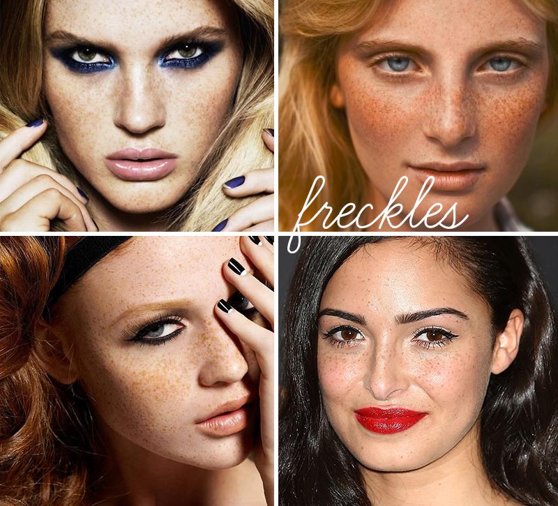 Tendência de maquiagem de sardas (Foto: Divulgação)