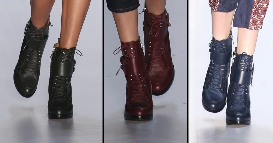 Tendência sapatos para outono inverno 2015 (Foto: Divulgação)